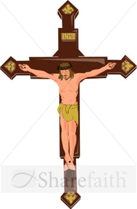 INRI Symbol of Christ on the Cross | Good Friday Clipart