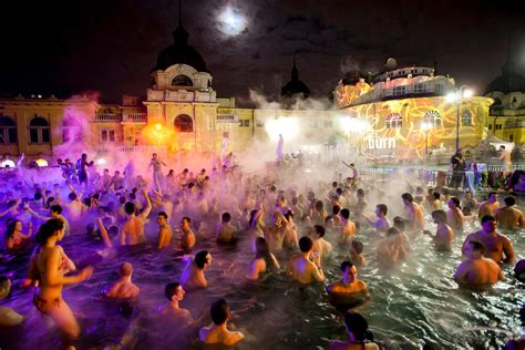 By Night, Budapest's Baths Host Raging Parties