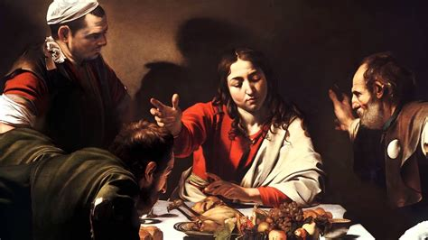 """Animated painting """"Supper at Emmaus By Caravaggio """" - YouTube"""