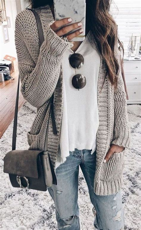 Fall Outfits With Long Cardigans | Stílus divat, Őszi
