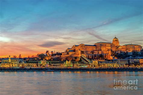 Budapest Castle At Sunset Photograph by Louise Poggianti
