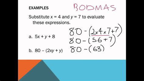 Year 7: Substitution Algebra - YouTube