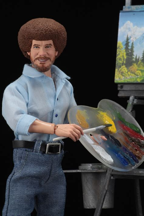 "Bob Ross – 8"" Clothed Action Figure – Bob Ross"