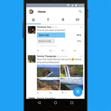 Twitter for Android brings a floating action button and