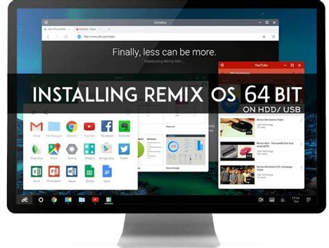Dual Boot Remix OS 64-bit with Windows 7,8 or 10