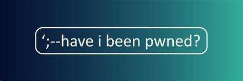 Have I Been Pwned (@haveibeenpwned) | Twitter