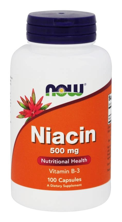 Buy NOW Foods - Niacin Vitamin B3 500 mg