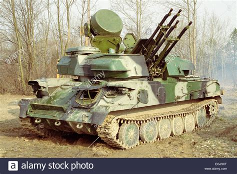 "The ZSU-23-4 ""Shilka"" is a lightly armored, self-propelled"