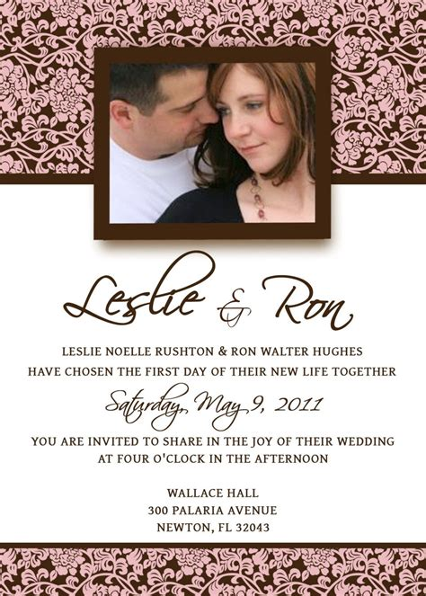 Homemade Wedding Invitation Template | invitation