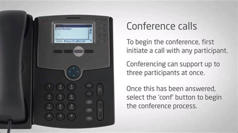 Cisco IP Phone SPA504G - Conference Calls - Video Training