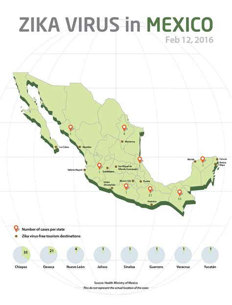 Mexico draws map indicating location of Zika cases: Travel