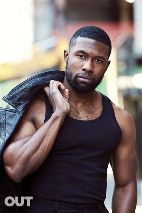 Moonlight Star Trevante Rhodes Poses for Out Magazine