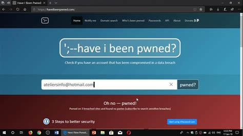 Have I been Pwned and What to do if you have been in a