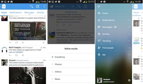 Twitter beta app for Android sports a brand new interface