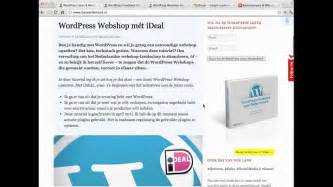 WordPress Webshop met iDeal - YouTube