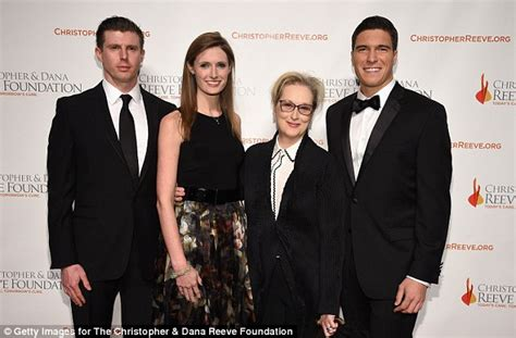Meryl Streep is dwarfed by Christopher Reeve's son and