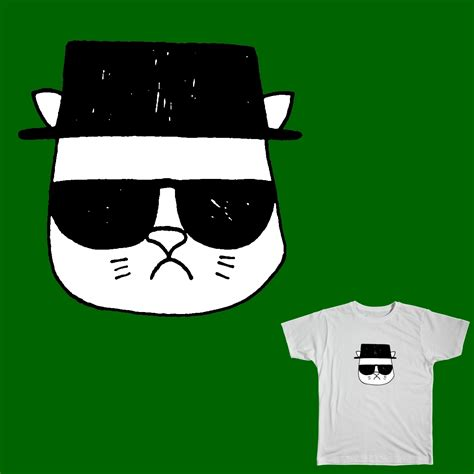 Score Heisenberg Cat by jvince on Threadless
