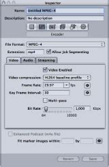 About the MPEG-4 Part 2 Encoder Pane