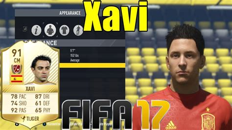 FIFA 17 - Xavi - Virtual Pro Look A Like Tutorial ( with