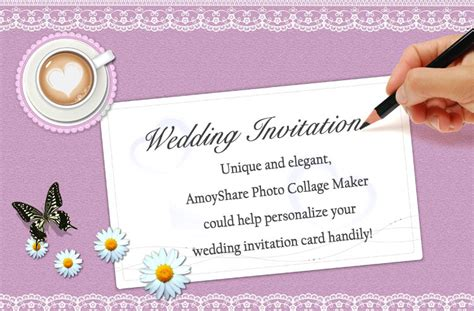 How to Create Wedding Invitation Card with Amoyshare PCM?