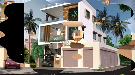 house plans with attached shop in india - YouTube