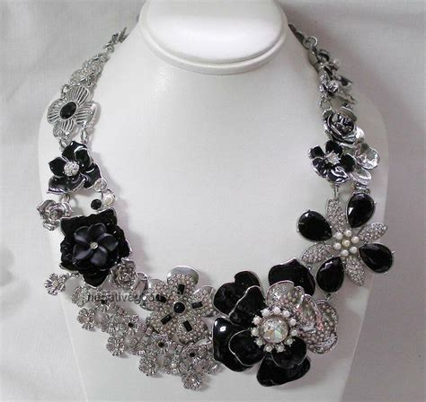 Elaborate White House Black Market Necklace Silver with