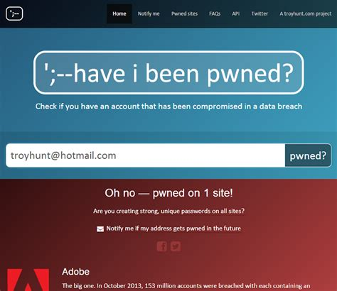Troy Hunt: Have you been pwned? Now you can be