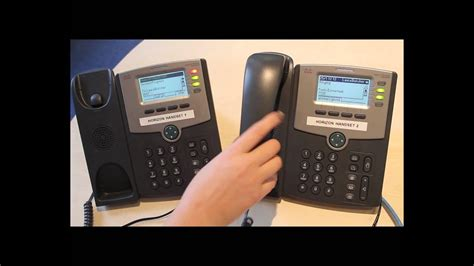 Cisco SPA504G Handsets - How to transfer an incoming call