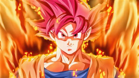 Wallpaper Super Saiyan God, Dragon Ball Super, 5K, Anime