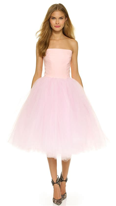 Loyd/Ford Strapless Ballet Dress in Pink - Lyst