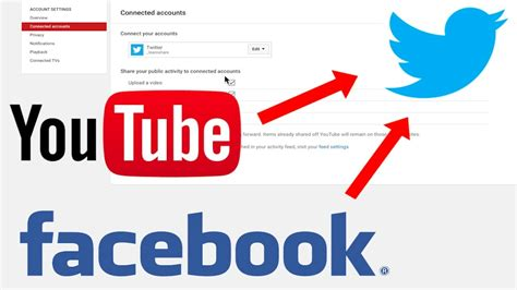 How to Link/Connect Youtube to Facebook and Twitter