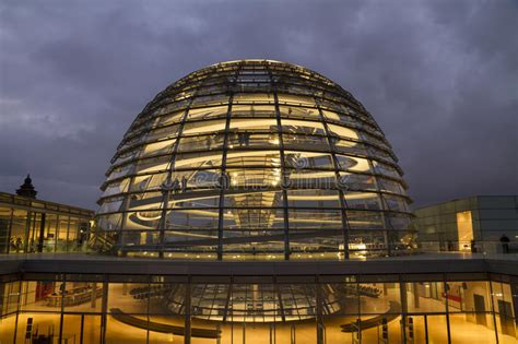 People Visit The Reichstag Glass Dome At The German